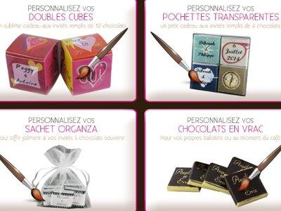 chocolat de mariage plus qu un cadeau pour vos invit s une v ritable d coration pour votre. Black Bedroom Furniture Sets. Home Design Ideas