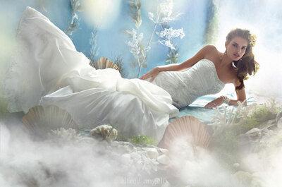 Las princesas Disney vestidas de novia