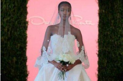 Oscar de la Renta - Primavera 2015: elegancia para novias clásicas con claves de romance