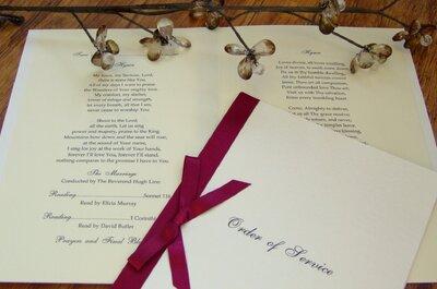 Bilingual weddings - Orders of service (III)