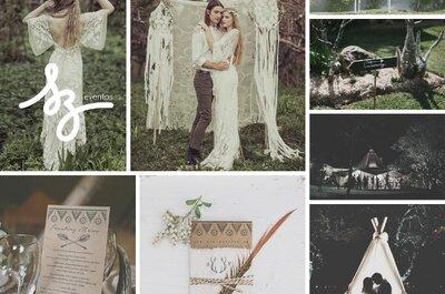 Cómo decorar una boda con el mejor estilo bohemio: Color, texturas, plumas ¡y mucho más!