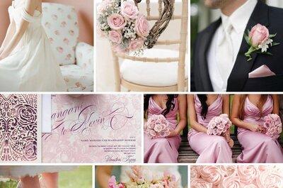Inspiración para una boda color rosa pastel y flores: 7 detalles para tener en cuenta