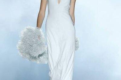 Trends in der Brautmode 2013: Brautkleider mit Federn