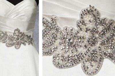 Accesorios para tu vestido de novia: cinturones brillantes