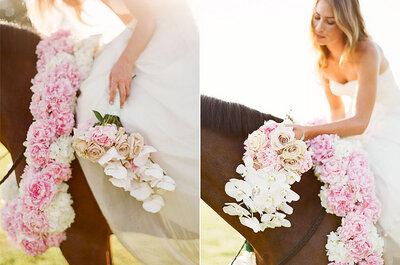 Trend: Wasserfall-Blumenstrauss für die Hochzeit