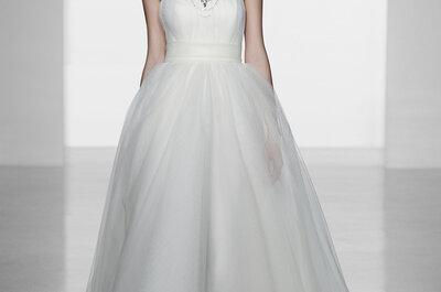 La última moda en vestidos de novia...joyas y collares incorporados