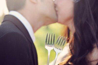 Posate di nozze con decorazioni d'epoca personalizzate: il tocco per un matrimonio vintage