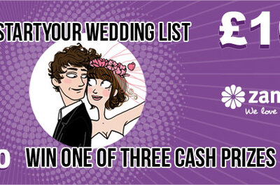 Kick start your wedding list 2012: win one of three £100 cash giveaways!