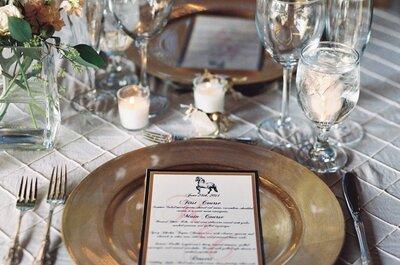 Vajillas para boda 2015: Montajes de mesa que transformarán la estética de un día tan especial