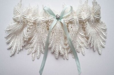 Vintage-Inspired Couture Wedding Garters by Florrie Mitton