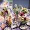 Flores silvestres como centros de mesa. Foto: Jen Lynney Photography