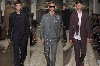 Moda para novios urbanos desde la colección de Valentino Primavera -Verano 2015