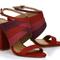 Sandália salto alto Nobuck Scarlet