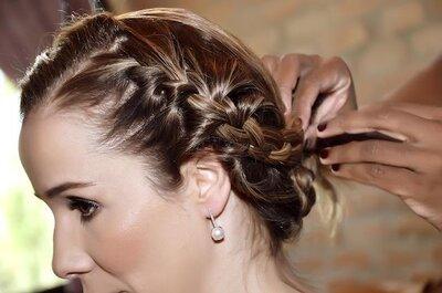A trança se torna uma das preferidas nos penteados e conquista madrinhas e convidadas de casamento