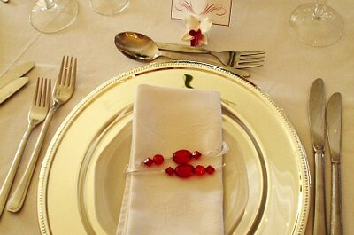 Las formalidades para las mesas del matrimonio