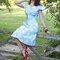 """Vestido """"tarde de final del verano"""". ©Puttin on the Ritz"""