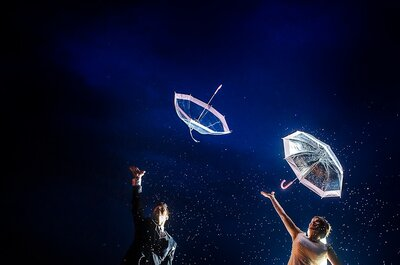 Es regnet, wie schön! 5 Vorkehrungen, die auch eine regnerische Hochzeit wunderschön machen!