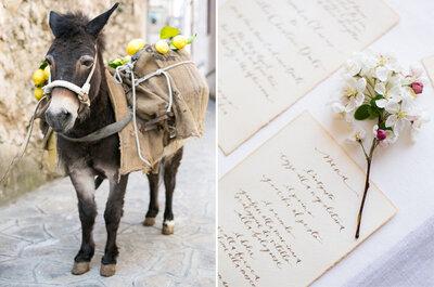 Inspiración desde una novia bohemia en la Costa de Amalfi, Italia
