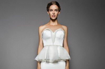 Angesagt für 2015: Peplum Brautkleider für eine tolle Figur!