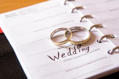 El momento de la boda y los plazos que se deben cumplir