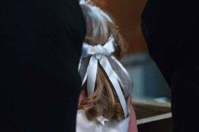 Simplicidade e leveza nos penteados das daminhas do seu casamento