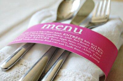 7 świetnych pomysłów na prezentację menu weselnego