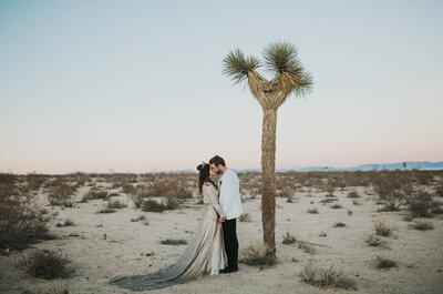 Una renovación de votos romántica, ecléctica ¡y fuera de serie! Te vas a enamorar de esta pareja