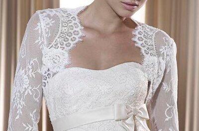 Die 8 raffiniertesten Bolero Brautkleider von Pronovias aus der Kollektion 2011