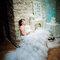 Robe de mariée bustier et jupe volumineuse en tulle