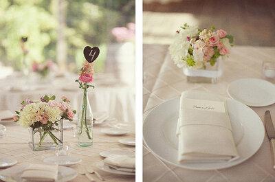 Lieblich und im Trend: Hochzeitsdekorationen in Rosa