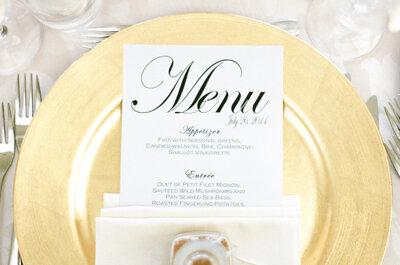 50 menús impresos súper originales para el banquete de tu boda: Dale forma a tu creatividad