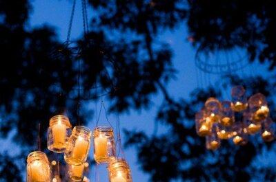 Un halo de iluminación fantástico: Integra las velas el día de tu boda