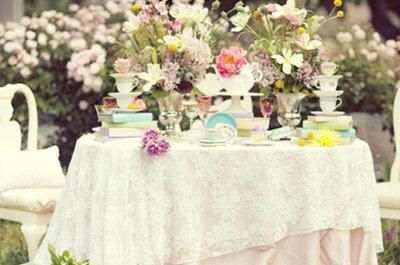 Decoración para boda inspiración Alicia en el país de las Maravillas