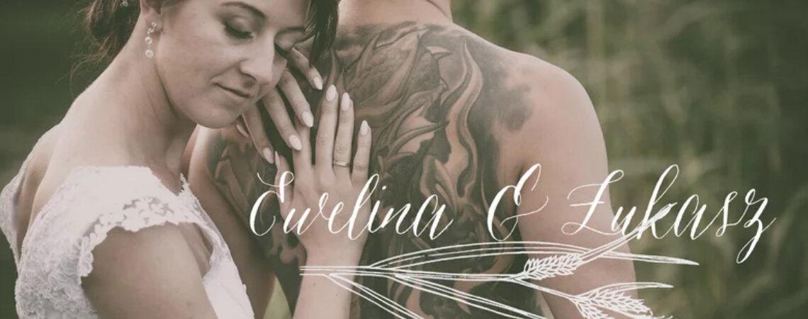 Subtelna biel koronkowej sukni w połączeniu z ostrymi tatuażami daje fenomenalny  efekt! Poznajcie Ewelinę i Łukasza!