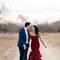 Melhor que um vestido de noiva vermelho, são dois vestidos de noiva vermelhos.