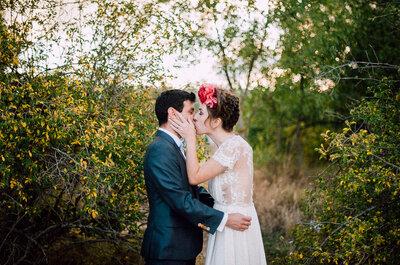 Rodeados de un estilo bohemio único: la personal boda de Marta y César