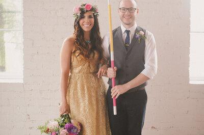 Fiesta de color: Una boda inspirada en la estética fantástica de los años 70