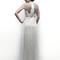 Vestido de novia 2013 con escote en la espalda y apliqués en color plata