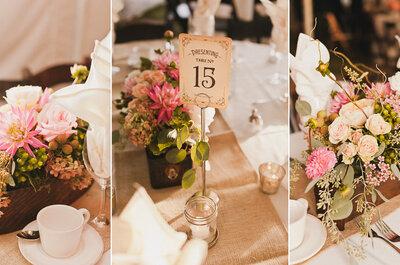 Cómo elegir los nombres de mesa perfectos para tu boda. ¡Ideas para sorprender!