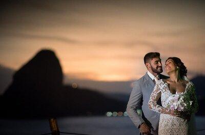 Patricia & Diego: sunset wedding rústico e romântico ao ar livre em Niterói!
