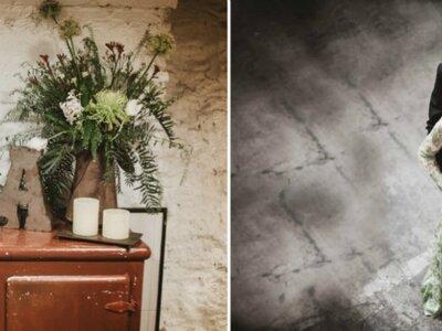 Green wedding: una boda en otoño con toques industriales
