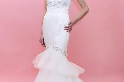 Brautkleider mit langen Roben - Die schönsten Modelle aus der Kollektion für 2013