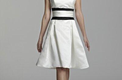 Vestidos cortos para novias con mucho estilo
