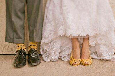 Novios con calcetines de colores, ¿si o no?