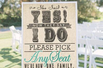 Decoratie voor de ceremonie 2015: een bruiloft in jouw stijl!