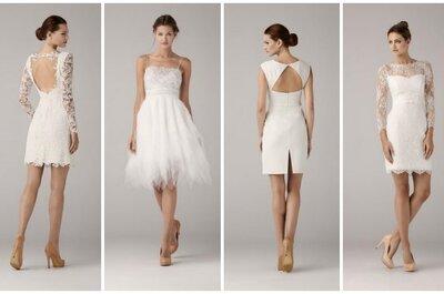 Krótkie suknie ślubne z kolekcji Anny Kary 2014.