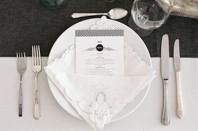 Idee per presentare il menù di nozze