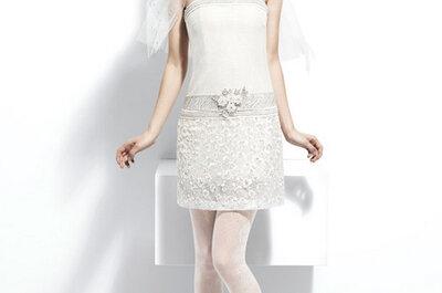 Vestidos de novia cortos de la colección 2013 de YolanCris