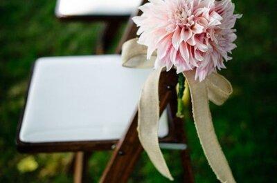 ¿Cómo decorar las sillas de tu boda? Descúbrelo con estos 10 estilos
