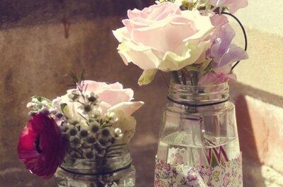 DIY: Hacé vos misma los centros de mesa para tu casamiento
